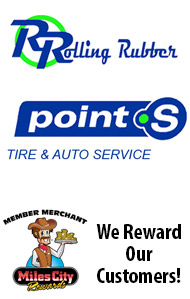 Rolling Rubber is a Miles City Rewards Member Merchant
